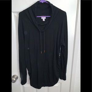 Black lightweight maternity sweater